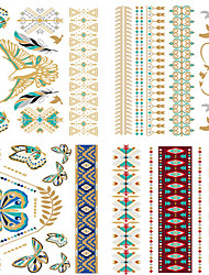 cheap -4PCS  Bride Makeup Personality European Style  Waterproof Metal Tattoo Stickers Suit -4