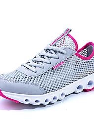 Недорогие -женские кроссовки тюль плоские пятки комфорт моды кроссовки спортивные синий / зеленый / серый / фуксии