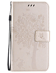 cheap -Case For Samsung Galaxy Samsung Galaxy Case Card Holder Wallet with Stand Flip Embossed Full Body Cases Tree Soft PU Leather for Xcover 3