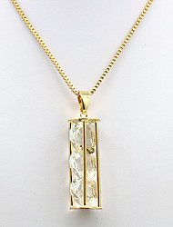 cheap -Women's Cubic Zirconia Zircon Gold Plated Pendant Necklace - Casual Fashion Circle Geometric Gold Necklace For Daily Date