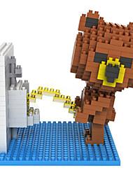 cheap -Loz Brown Bears Toilet Loz Diamond Blocks Block Toys DIY Toys(350 Pcs)