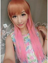 kawaill atractivo de la manera pelucas del partido hermosa mezcla marrón rosado a la venta