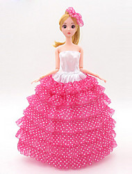 Недорогие -универсальные (за исключением ребенка) 11 одежды свадебное платье полный мешок большой юбка задний дизайн свадебное платье 30 см кукла