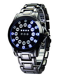 cheap -Luxury Men's Black Stainless Steel Date Digital LED Watch Bracelet Sport Watches Fashion Watch