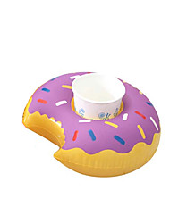 cheap -Mini Floating Donut Inflatable Drink Cup Holder Cell Phone Holder Stand Pool Float Toys & Party Supplies