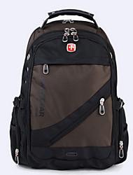 """Недорогие -15 """"Ноутбук Рюкзаки Нейлон Сплошной цвет для делового офиса для колледжей и школ для путешествия Водостойкий Противоударное покрытие с USB-портом для зарядки / наушниками"""