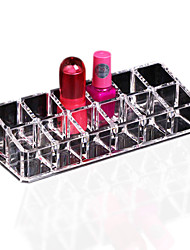 cheap -1pcs Clear 12 Display Stand Holder Makeup Lipstick Cosmetic Storage