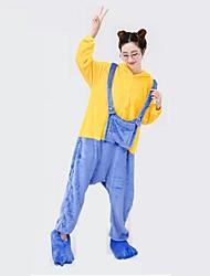 preiswerte -Kigurumi Pyjamas Gymnastikanzug/Einteiler Fest/Feiertage Tiernachtwäsche Halloween Geometrisch Kigurumi Für UnisexHalloween Weihnachten