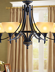 Chandelier ,  Rustic/Lodge Painting Feature for Mini Style Metal Living Room Bedroom Dining Room