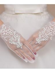 Недорогие -чистая запястье длина перчатки свадебные перчатки классический женский стиль