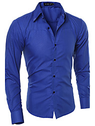 cheap -Men's Cotton Shirt - Solid Colored
