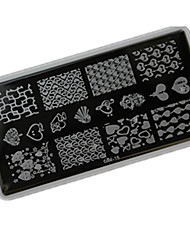 1pcs 12*6CM Nail Art Stamping Plate With High Quality Backplane Design Colorful Image Nail Tools Les Cool16-20