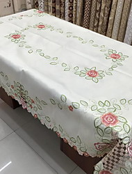 cheap -Ou Embroidery Satin Embroidered Rural Table Cloth (100*150cm)