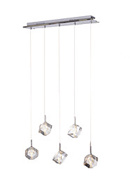 cheap -Pendant Light ,  Modern/Contemporary Island Chrome Feature for Crystal Metal Dining Room Kitchen