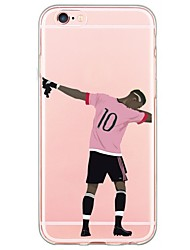 cheap -For iPhone 7 Sports Stars Pattern TPU Ultra-thin Ranslucent Soft Back Cover for iPhone 6s 6 Plus SE 5s 5