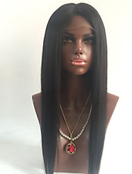 cheap -100 human hair wigs brazilian virgin hair wigs straight style with baby hair guleless full lace wig for black women