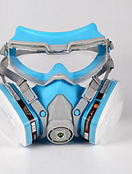 cheap -Organic Gas Spray Masks Gas Comprehensive Cover Blue-White Color