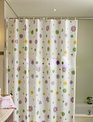 móda zahustit vodotěsné barevné květiny koupelna sprchový závěs PEVA vanu