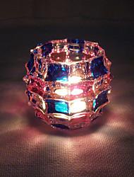 1pc ha portato a casa l'originalità della batteria fornire luce in vetro candelabro notte (colore casuale)