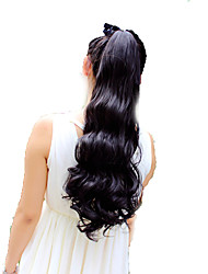 cheap -High-Temperature Wire Wig Korea Beautiful Pear Fluffy Ponytail Scroll 50CM