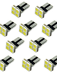 10pcs 4SMD T10 5050 White Color LED Car Side Wedge Lamp Marker Bulb License plate lights 12V