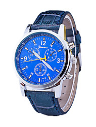 cheap -Men's Dress Watch Quartz Swiss / Designers Leather Band Casual Black Blue Brown