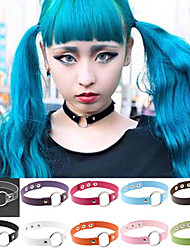 17 Colors Fashion  Harajuku Punk Leather Collar Choker Necklace Rivets Clavicle Necklace Women Jewelry