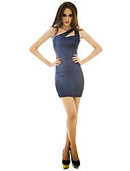 Недорогие -joannekitten женщин одно плечо рукавов тонкий Bodycon мини-платье