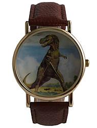 baratos -Homens Relógio de Moda / Relógio Elegante / PU Banda Vintage / Casual Marrom