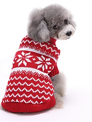 cheap -Cat Dog Sweater Christmas Dog Clothes Cute New Year's Stripe Red Blue Costume For Pets