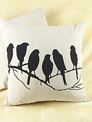 cheap -pcs Cotton/Linen Pillow Cover, Animal Print Graphic Prints Casual