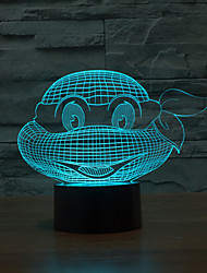 cheap -Endure God Turtle Touch Dimming 3D LED Night Light 7Colorful Decoration Atmosphere Lamp Novelty Lighting