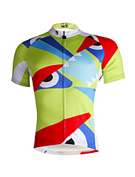 cheap -ILPALADINO Men's Short Sleeve Cycling Jersey - Light Green Bike Jersey, Quick Dry, Ultraviolet Resistant, Breathable
