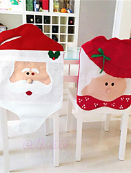 cheap -Lovely Christmas Chair Covers Mr & Mrs Santa Claus Christmas Decoration Dining Room Chair Cover Home Party Decor