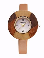 cheap -REBIRTH Women's Wrist Watch Hot Sale / / PU Band Casual / Fashion / Elegant Red / Orange / Brown / Two Years / Mitsubishi LR626