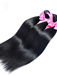 7A Grade Unpressed Indian Silk Straight Hair Bundles 100% Unprocessed 3pc/300g Indian Human Hair Weft