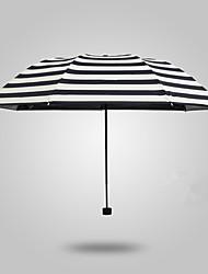 Full Automatic High-Grade Sun Umbrella Umbrella Pencil Umbrella Creative Navy Striped Folding Umbrella