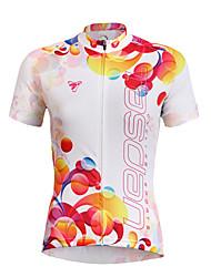 economico -TASDAN Maglia da ciclismo Per donna Maniche corte Bicicletta Maglietta/Maglia Top Asciugatura rapida Resistente ai raggi UV Traspirante