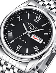 Men's Couple's Fashion Watch Wrist watch Quartz / Stainless Steel Band Casual Silver