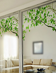 cheap -Window Film Window Decals Style Fresh Green Branches Matte PVC Window Film - (60 x 58)cm