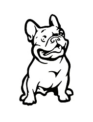 cheap -ZIQIAO Fashion French Bulldog Dog Car Sticker PET Cars Decal Weatherproof Auto Styling Cartoon Car Stickers