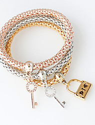 Chain Bracelets 1set,Golden / Rose / Silver Bracelet Fashionable Circle 514 Alloy Jewellery