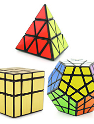 cheap -Rubik's Cube 3 PCS Shengshou Pyramid Alien Megaminx Mirror Cube Smooth Speed Cube Magic Cube Puzzle Cube Professional Level Speed New