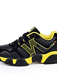 Sneakers-Tyl PUDame-Sort Blå Gul-Fritid Sport-Flad hæl