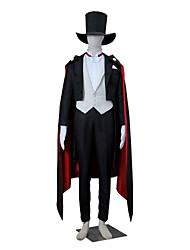 cheap -Inspired by Sailor Moon Tuxedo Mask Anime Cosplay Costumes Cosplay Suits Solid Colored Long Sleeve Vest / Shirt / Pants For Men's