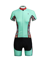 cheap -ILPALADINO Cycling Jersey with Shorts Women's Short Sleeves Bike Clothing Suits Quick Dry Ultraviolet Resistant Breathable Back Pocket