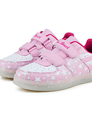 cheap -Girls' Shoes Tulle Spring Comfort / Light Up Shoes Sneakers Running Shoes / Walking Shoes Magic Tape / LED for Blue / Pink