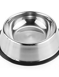 cheap -L Dog Bowls & Water Bottles Pet Bowls & Feeding Portable Silver