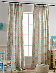cheap -Rod Pocket Grommet Top Tab Top Double Pleat Pencil Pleat Two Panels Curtain Modern European Mediterranean Neoclassical Country, Print