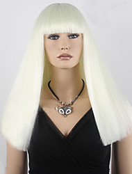 cheap -Top Quality 613# Light Blonde Color Synthetic Long Straight Cosplay Wigs